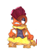 Pokemon Artwork: Scrafty by Pixelated-Takkun