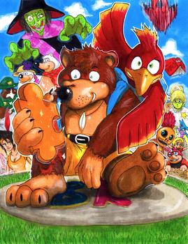 Banjo-Kazooie by Pixelated-Takkun