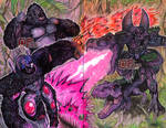 Optimus VS Megatron by Pixelated-Takkun