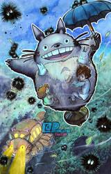 Tonari no Totoro by Pixelated-Takkun