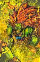 Lightning Beast Blanka by Pixelated-Takkun