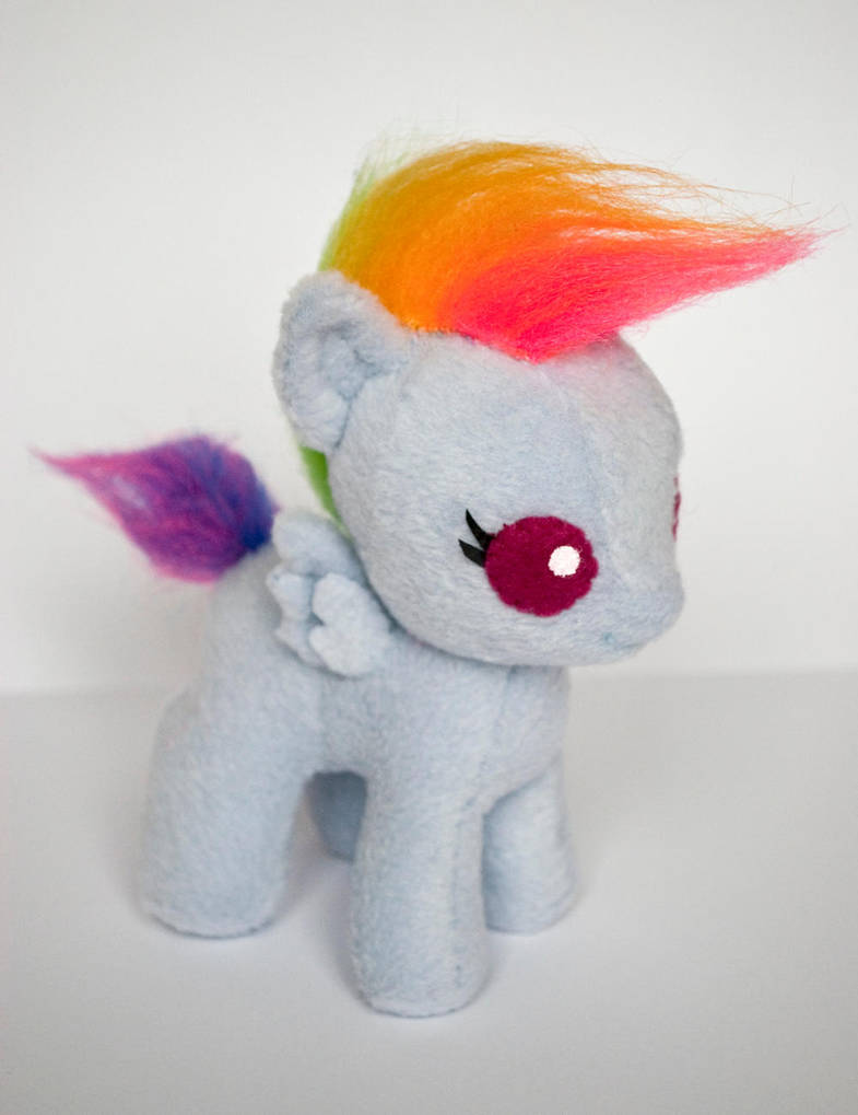 Baby Rainbow Dash Plush: Final Version by ivy-cinder