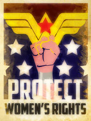 Heroes Protect - Wonder Woman - Women's Rights by KerrithJohnson