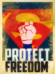 Heroes Protect - Superman - Freedom by KerrithJohnson