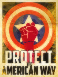 Heroes Protect - Captain America - American Way by KerrithJohnson