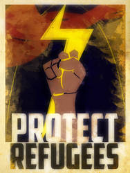 Heroes Protect - MsMarvel - Refugees by KerrithJohnson
