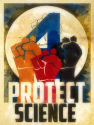 Heroes Protect - Fantastic Four - Science by KerrithJohnson