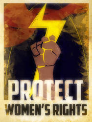 Heroes Protect - MsMarvel - Women's Rights by KerrithJohnson