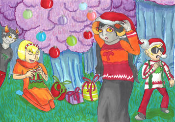 Homestuck Christmas by Zanreo