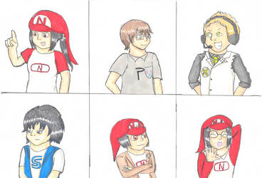 Console comic - various characters by Zanreo
