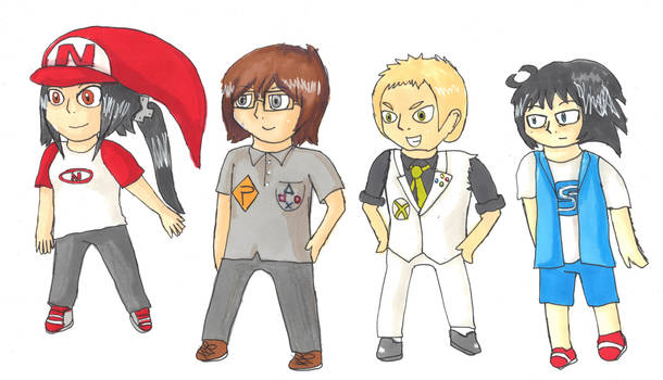 4 characters by Zanreo