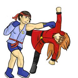 Capcom vs Namco Fight by Zanreo