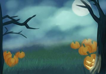 Spooky Halloween background by Zanreo