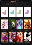 my 2018 Summary of Art by FluffyPaw0306