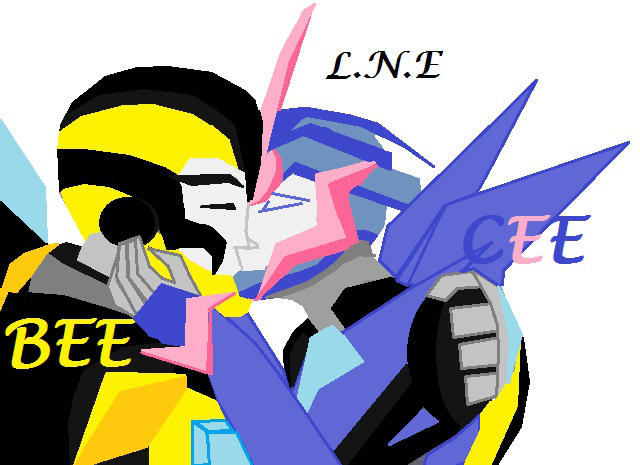 Bumblebee x Arcee kiss Love Transformers prime by ...