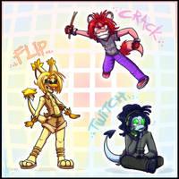 Commish:: Crazy trio by vaporotem