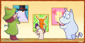 Draw me a Moomin by vaporotem