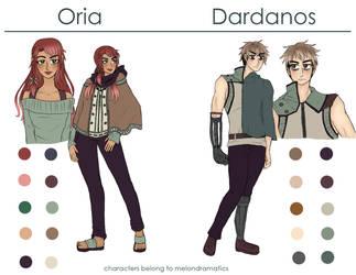 [NaNoWriMo] Oria and Dardanos by melondramatics
