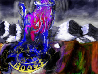 Summoning Octopimp by Elaroi