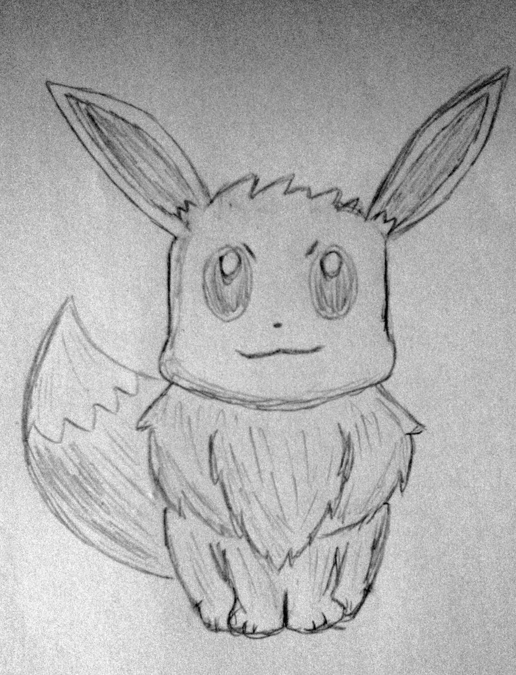 I drew an Eevee by rith-sv