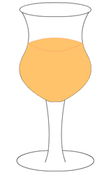 Orange Wine Glass by AHopeforPeace