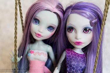 My two cuties by Yuzuki-Rengel