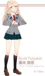 BnHA OC   Ryumi Fujiwara by 0lliee