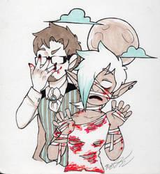 Inktober 22 - Spooky boyfriends by Tarulimint