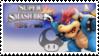 Bowser (Blue) Smash 4 Stamp by TheTrueMarkyboy