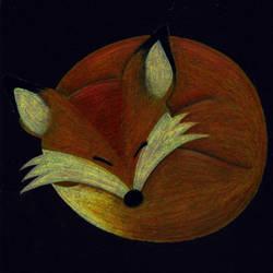 Sleeping Fox by M-Curiosity