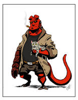 Hellboy Kittypatrol by killintyme
