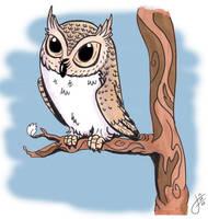 Owltober 28 Contour Owl by killintyme