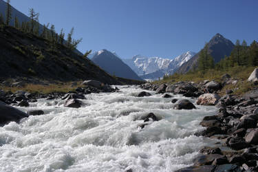 mountain stream by Fictehappy