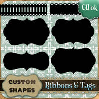 Custom Shapes Tags n' Ribbons by starsunflowerstudio