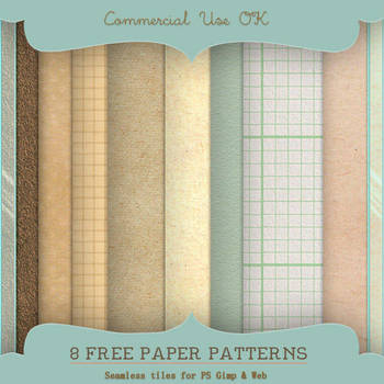 Paper Patterns for PS and Gimp by starsunflowerstudio