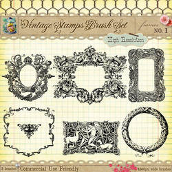 Vintage Stamps PS Brushes 1 by starsunflowerstudio