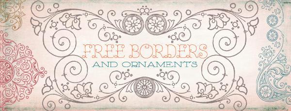 Vintage Frames Borders Clipart 2 by starsunflowerstudio