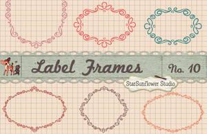 Vintage Doodle Frames Custom Shapes by starsunflowerstudio