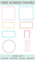 Free Borders and Frames Kit by starsunflowerstudio