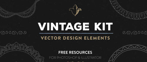 Free Vintage Vector Design Elements by starsunflowerstudio