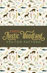 Free Folksy Rustic Woodland Vector Pattern by starsunflowerstudio