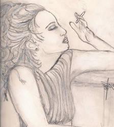 Drea De Matteo sketch by RosesofBlue2008