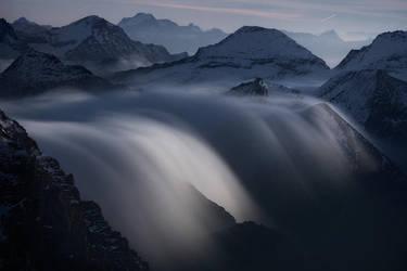Rivers of Clouds at Moonlight by RobertoBertero