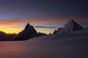 Matterhorn and Dent d'Herens at Dawn by RobertoBertero