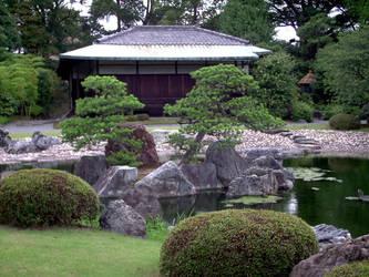 Nijo Castle - View from garden by DavidinJapan