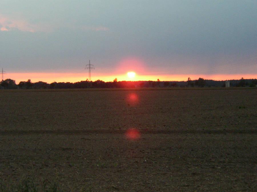 Sunrise at land by Greenbaji