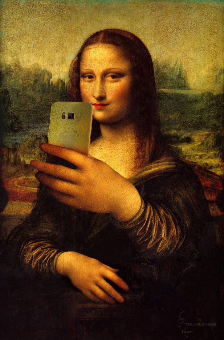 photo selfie Mona Lisa by hguerfi