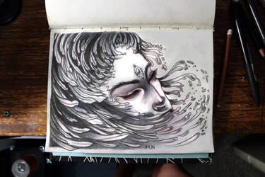 grafito y pastel blanco by aplastalimon