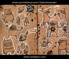 Dubvirus Audio Monster Commish by Beezul
