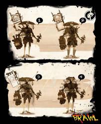 Steampunk Cowboy Yoshimitsu by Beezul